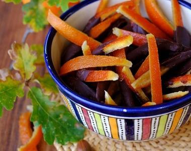 Kandírozott csokoládés narancs receptje aszalógéppel elkészítve